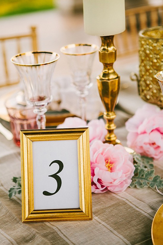 simple framed table numbers