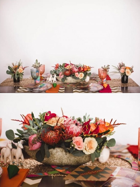 aztec and desert themed wedding table