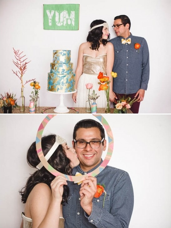 cute alternative wedding couple