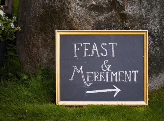 feast and marriment sign