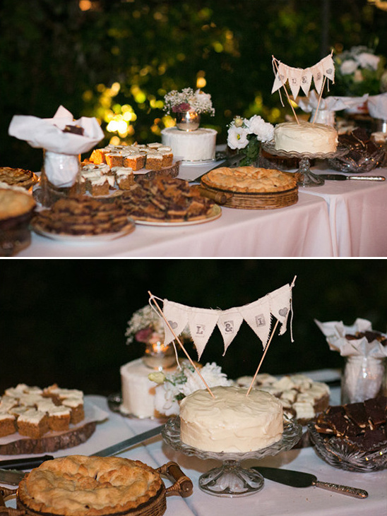 homemade dessert table