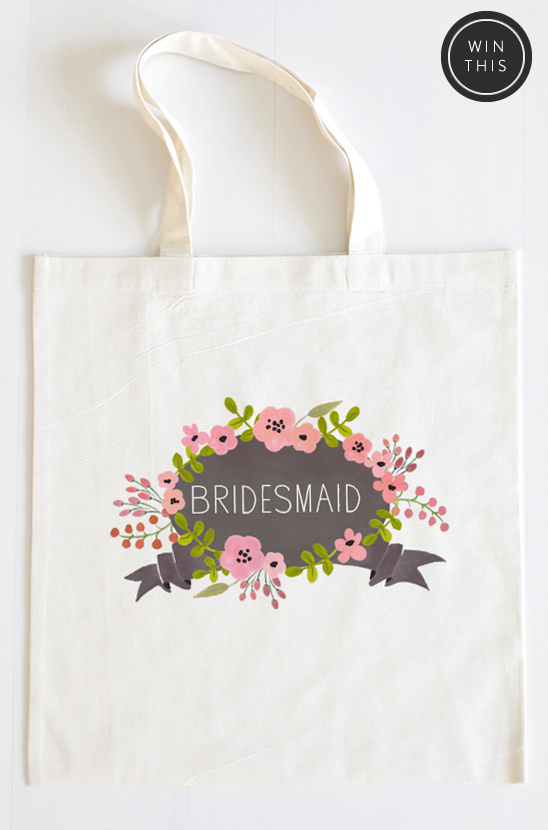 bridesmaid custom tote bag