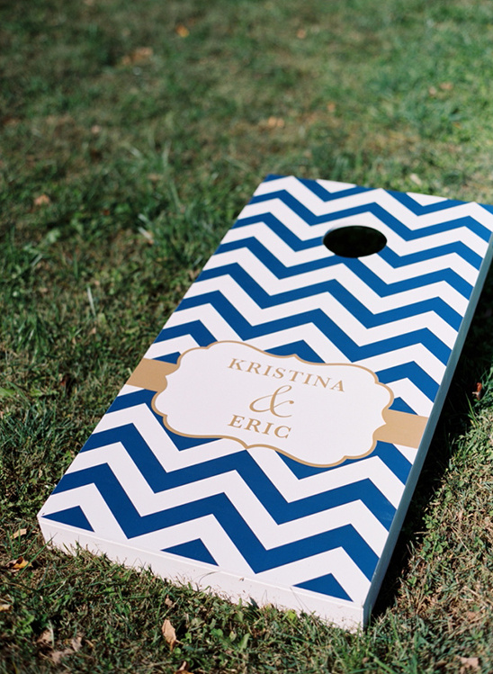 custom chevron corn hole game