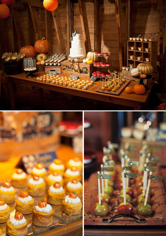 fall harvest dessert display table