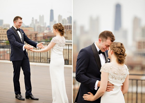First Look Photos from Seattle Wedding Photographer Sarah Postma