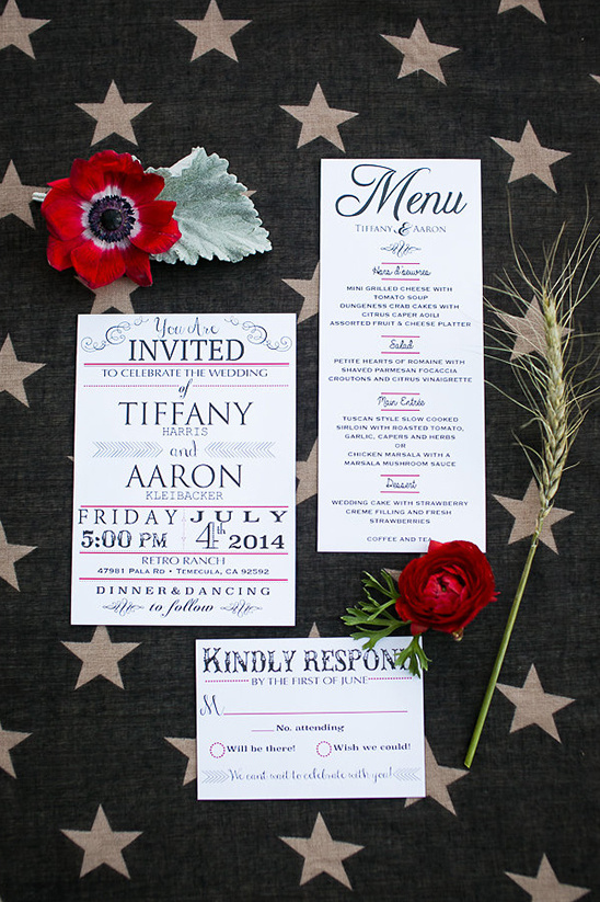 Fourth Of July Wedding Stationery