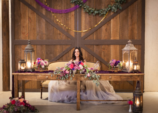 Rustic Orchid Wedding Inspiration