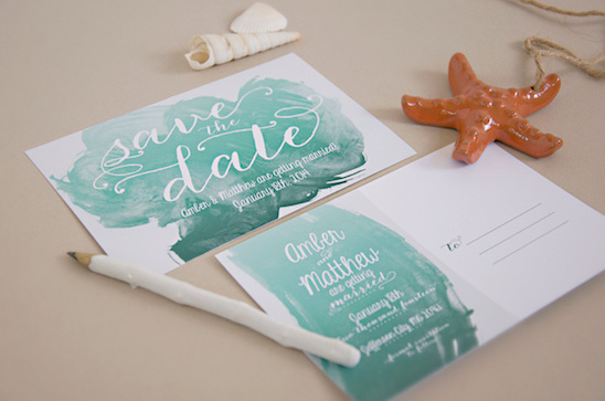 water color save the dates