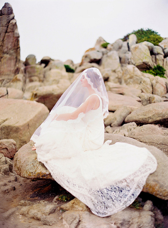 elegant beach bride