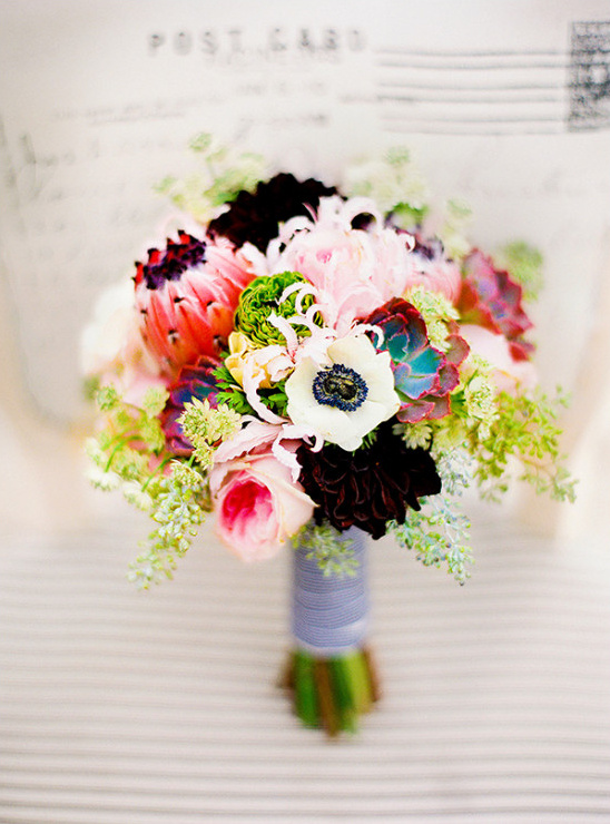 deep red pink and white bouquet