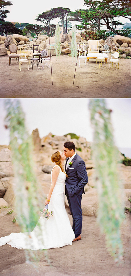 simple vintage rock outcrop ceremony