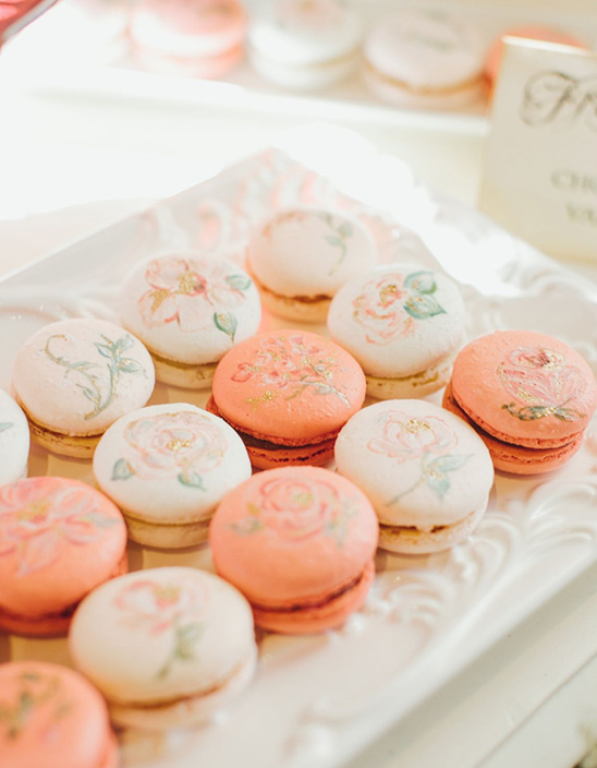 hand painted French Macarons