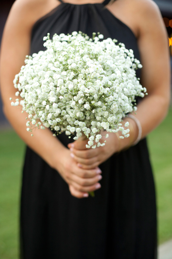 simple babys breath bouquet