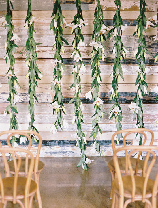 hanging lilies backdrop