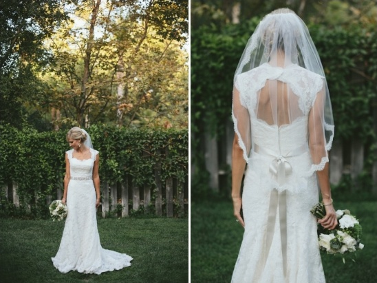 lace wedding dress with cut out back