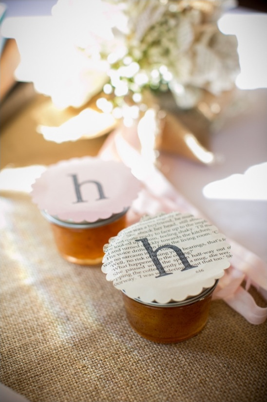 homemade jam favors
