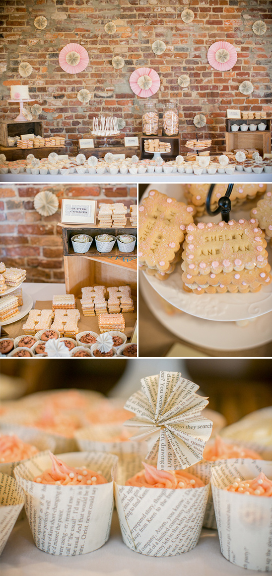 handmade dessert table