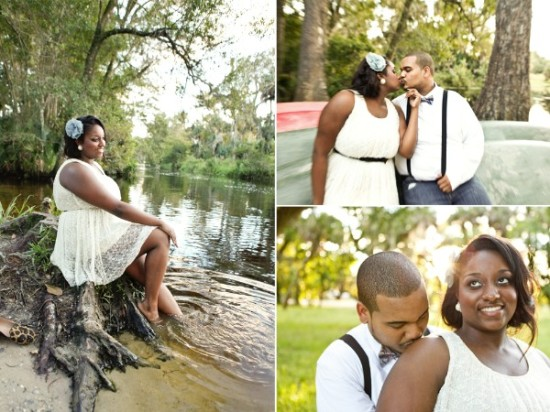 Romantic Vintage Engagement Session