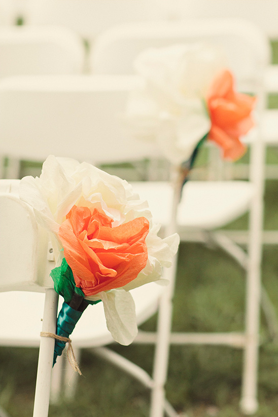 tissue paper flowers for aisle decor
