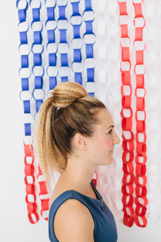 split ponytail in half and pull top half forward and pin