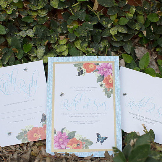 botanical wedding invite