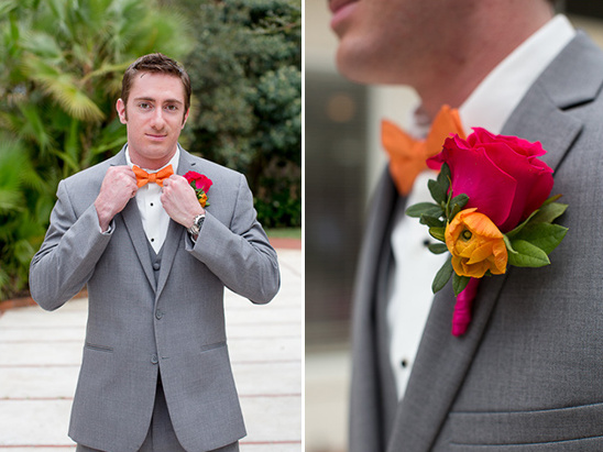 bold accent colors for groom