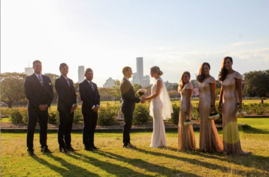 Nude Sequinned Bridesmaids
