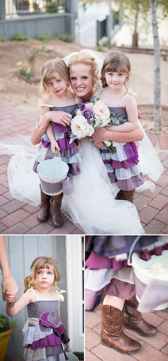 rustic ruffles and cowboy boots for your flower girls