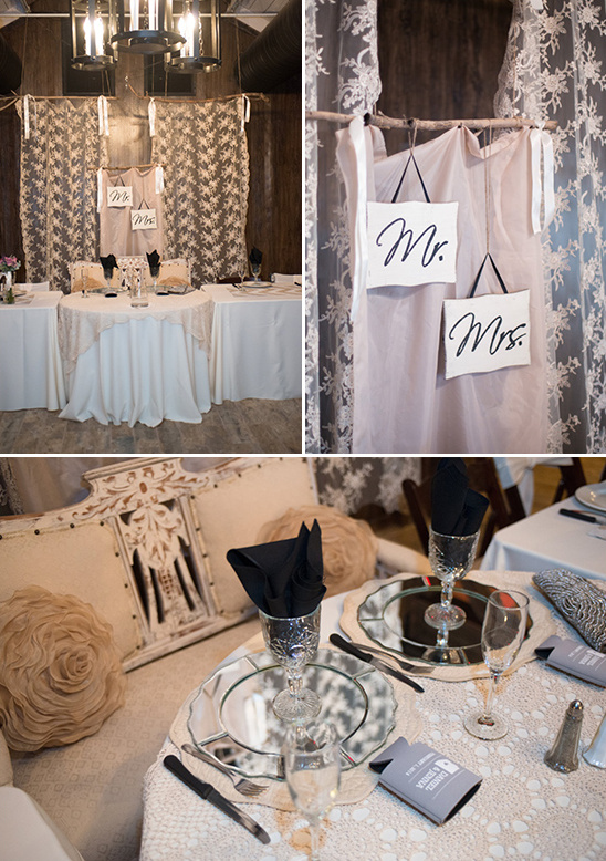 sweetheart and wedding party table