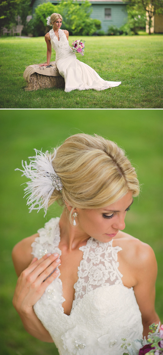 soft and sweet bridal look
