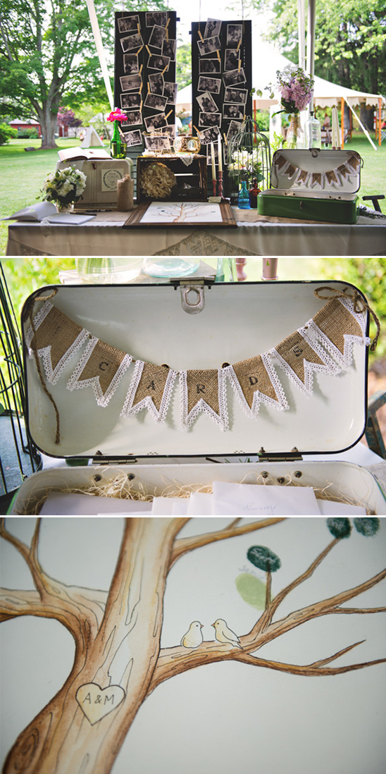 welcome table with fingerprint guestbook