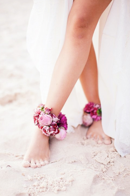 dress your ankles up with flowers