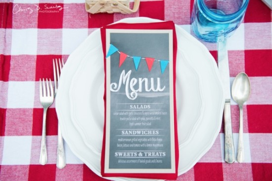 Vintage Red, White & Blue Styled Wedding Shoot