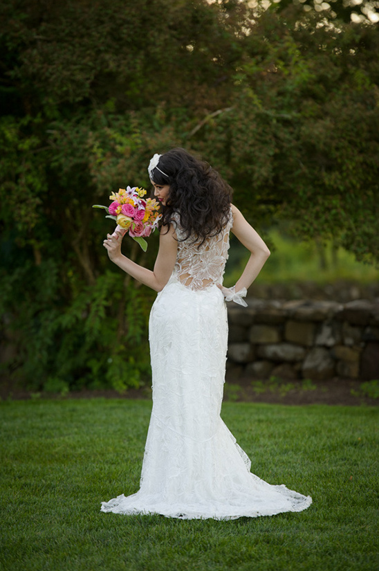 amazing backless wedding gown