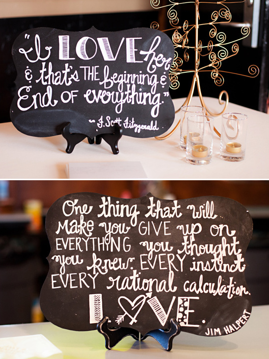 chalkboard quote signs