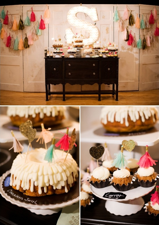 bundt cake buffet table