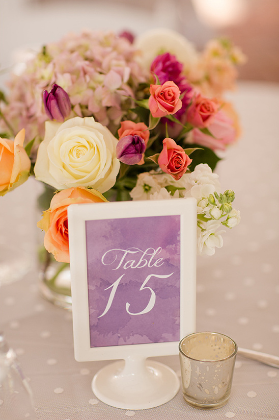 purple color wash table numbers