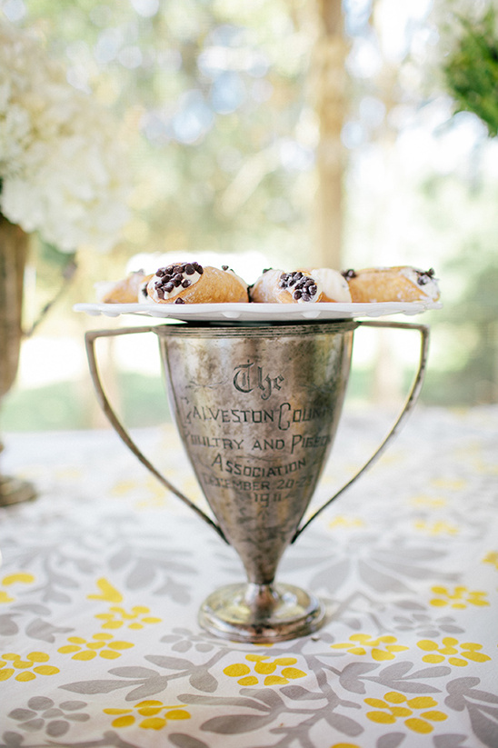 derby trophies used for dessert stands