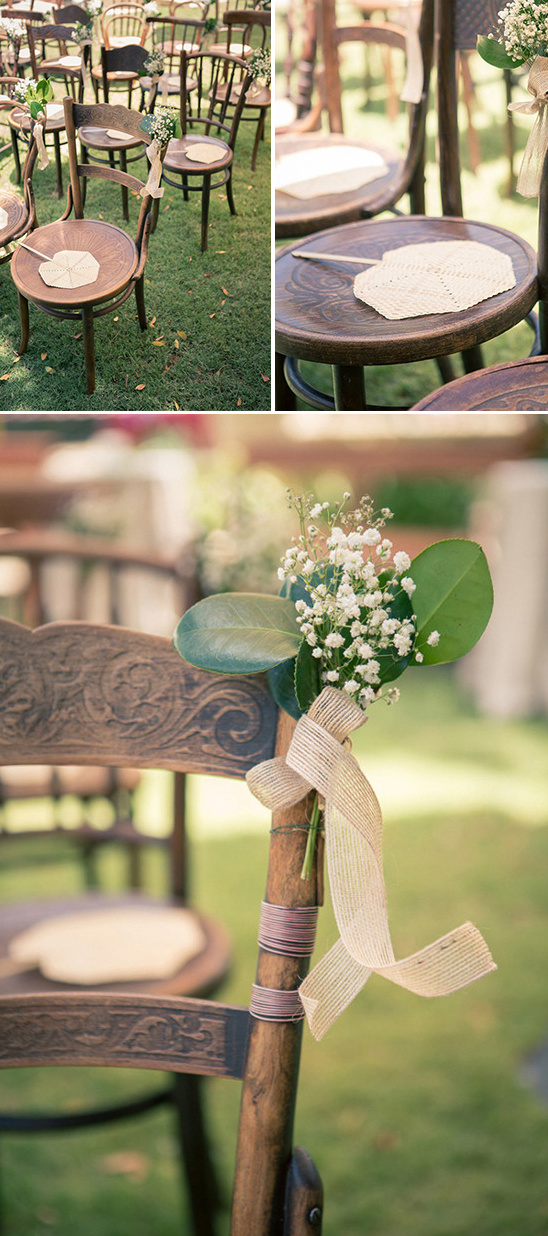 super cute ceremony setup
