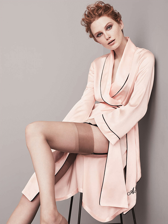 Classic Dressing Gown In Pink From Agent Provocateur