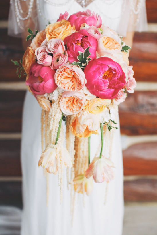 peony garden rose and tulip bouquet