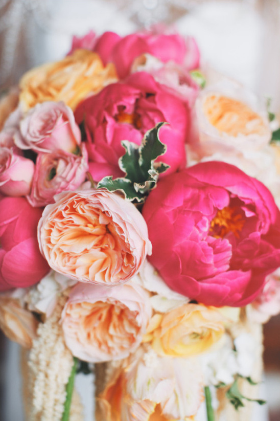 orange and pink wedding ideas
