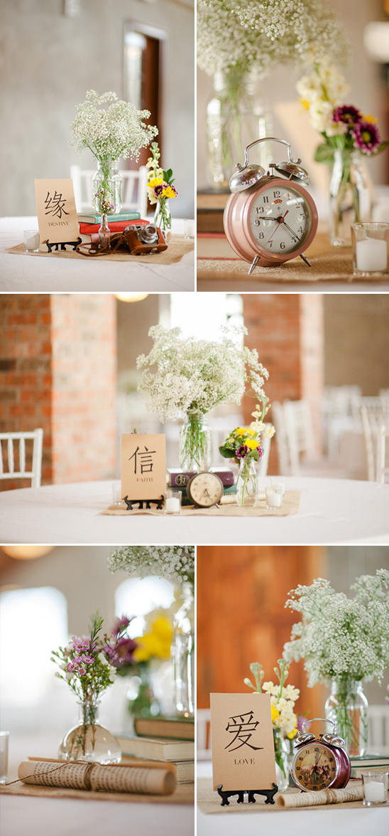 antique collection centerpieces