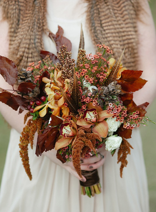 fancy fall bouquet