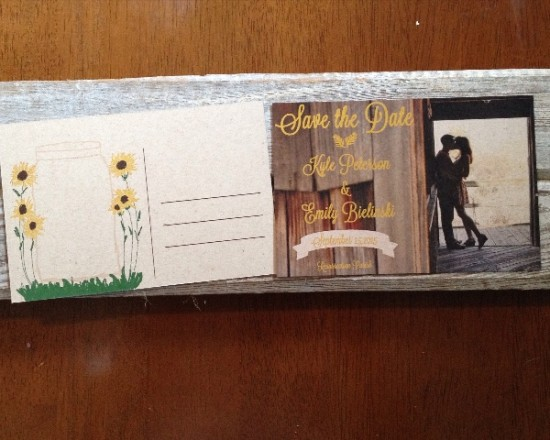 Rustic Barn/ Sunflower Save the Date