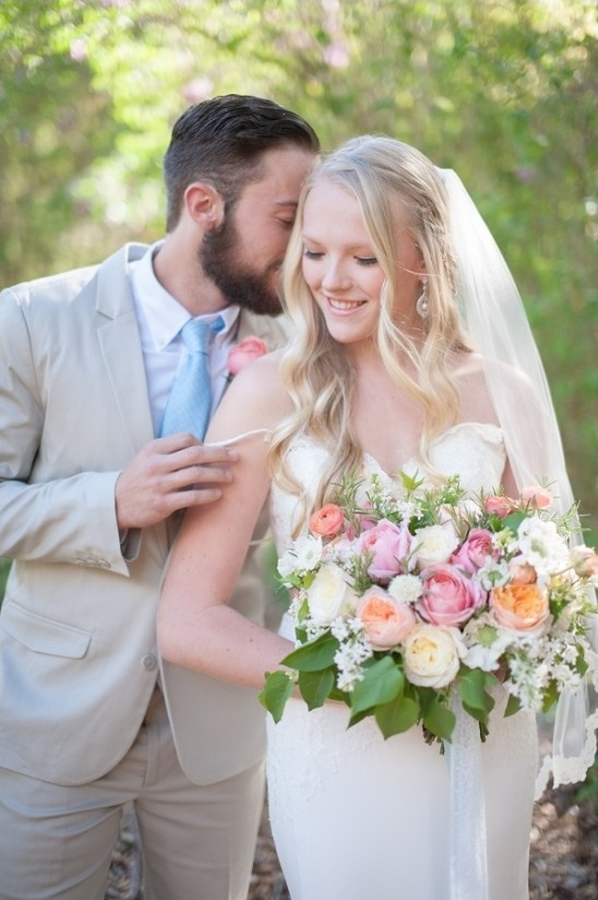 soft and romantic wedding couple