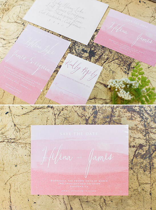 watercolor wedding invite