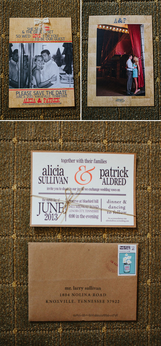 save the dates and wedding invites
