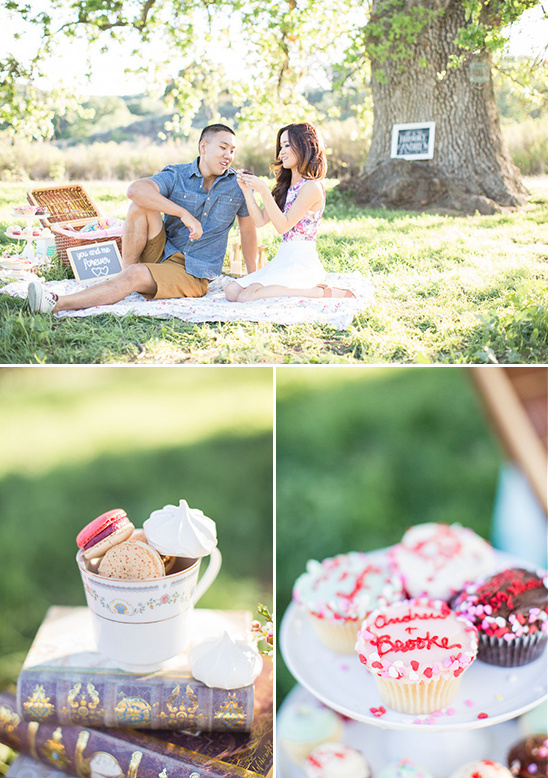 cupcakes and cookies picnic