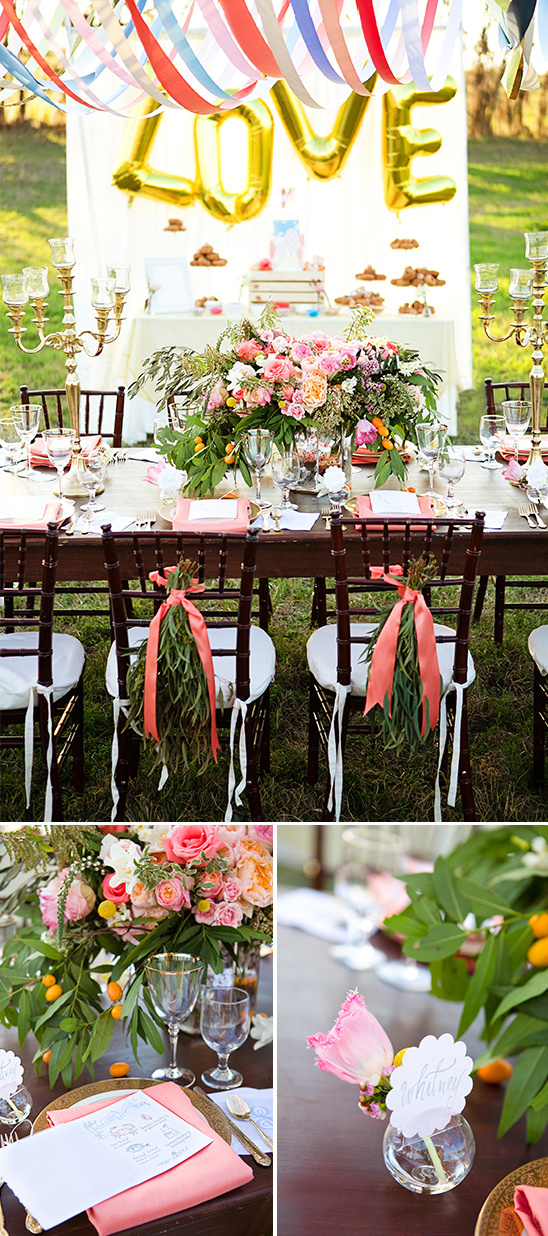 whimiscal and romantic tablescape idea